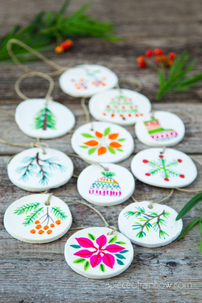 beautiful Christmas decorations gifts and crafts using air dry clay