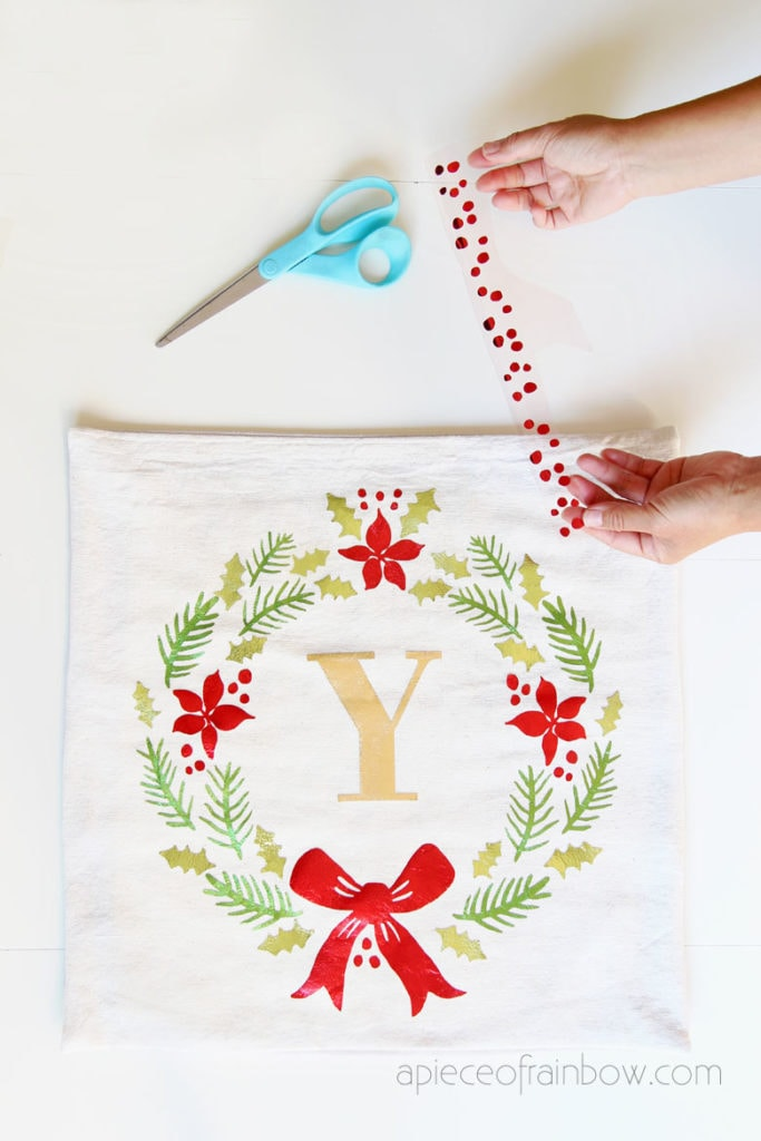 farmhouse Christmas pillow case