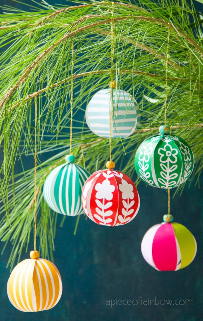 beautiful Christmas crafts DIY paper ornaments  and decorations