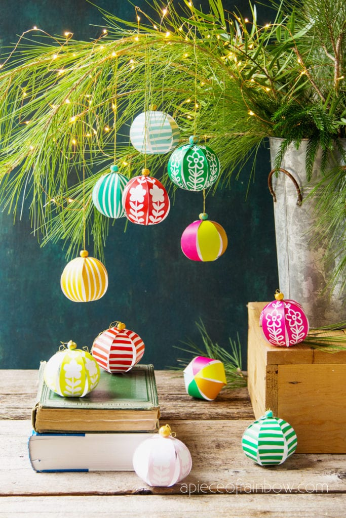 Anthropologie and farmhouse style decorations 5 minute beautiful DIY paper Christmas ornaments  & paper crafts for kids & family!