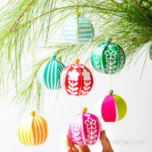 5 minute beautiful DIY paper Christmas ornaments for almost FREE! Easy decorations & paper crafts for kids & family! Video tutorial & printable templates! – A Piece of Rainbow