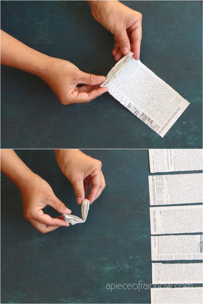 folding newspaper