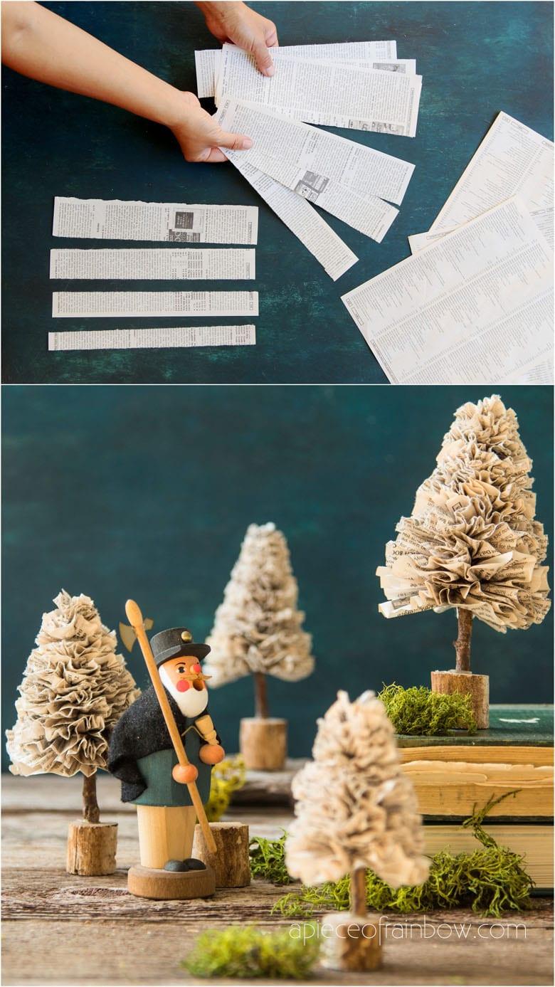 Paper DIY Christmas Trees