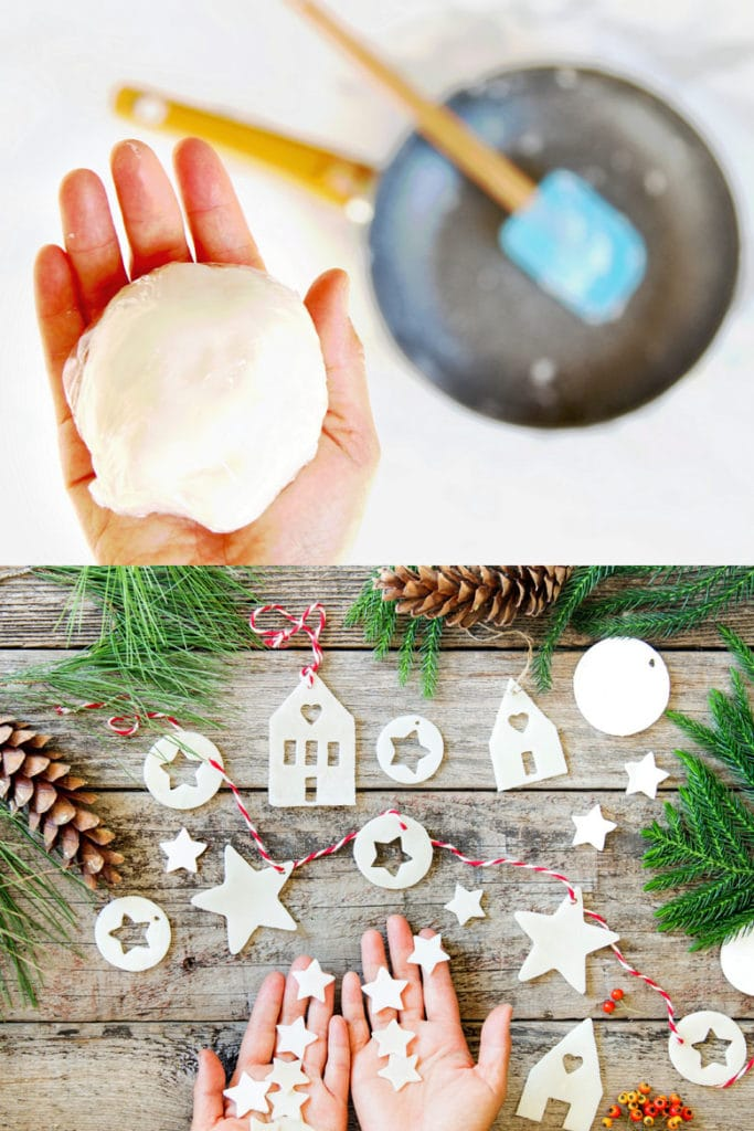 homemade air dry clay ornaments Christmas decorations