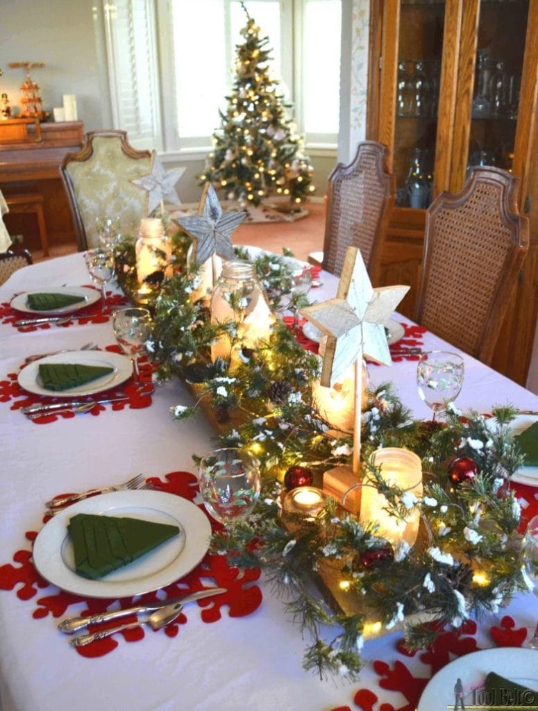 Lighted Christmas table decoration ideas