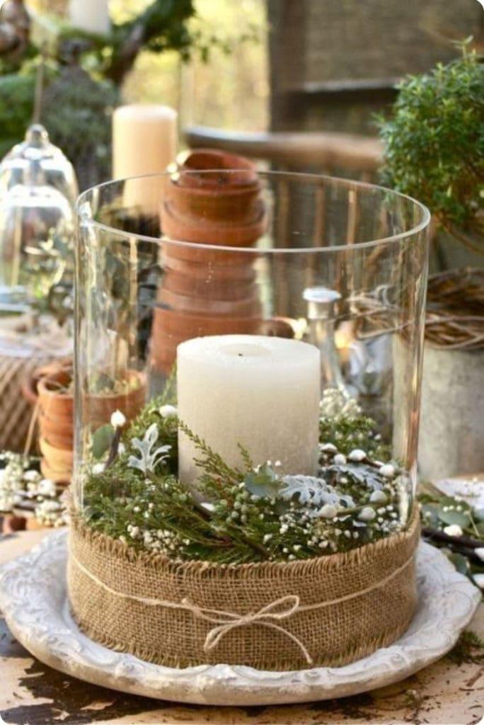 charming farmhouse Christmas centerpiece