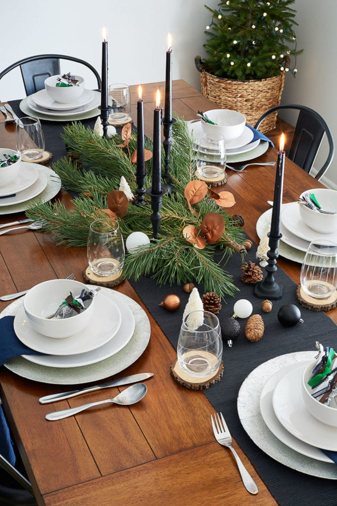 Image of: 27 Gorgeous Christmas Table Decorations Settings A Piece Of Rainbow