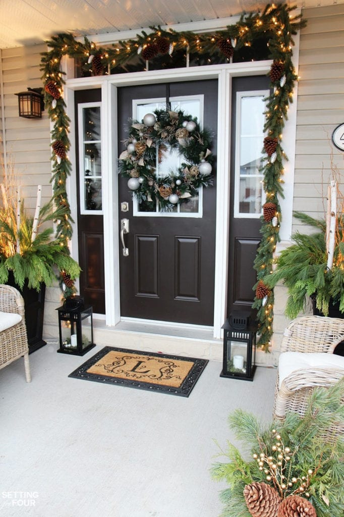 Christmas porch outdoor  decorations