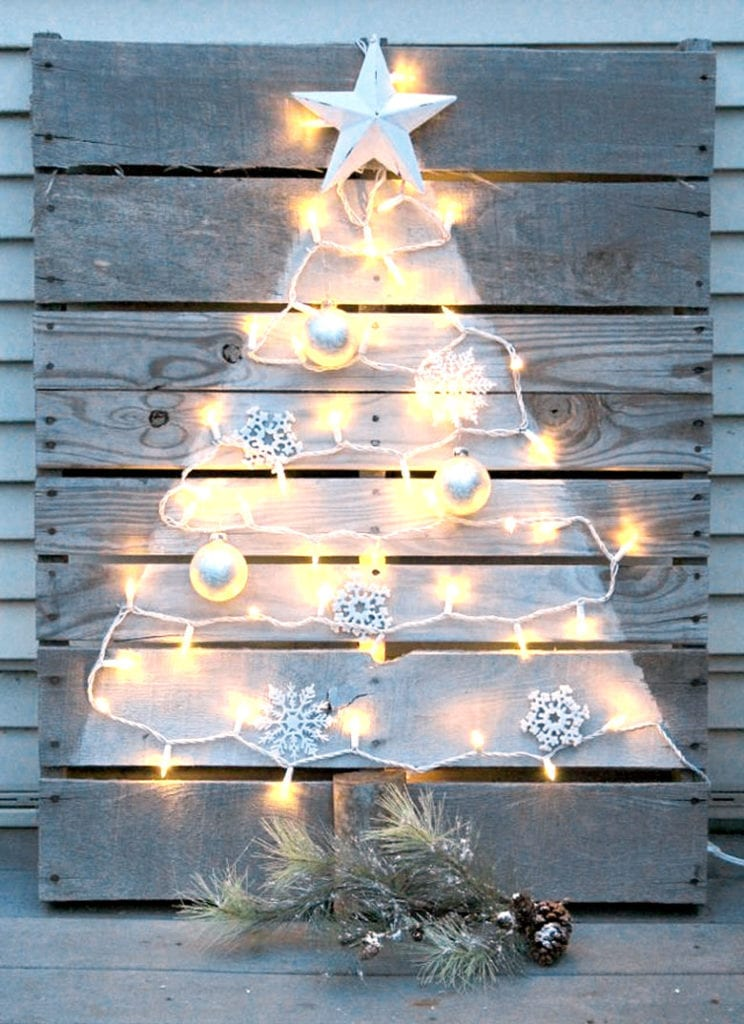 DIY  pallet Christmas tree ideas