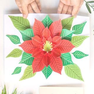 Festive Diy Pop Up Christmas Card Free Template A Piece Of Rainbow