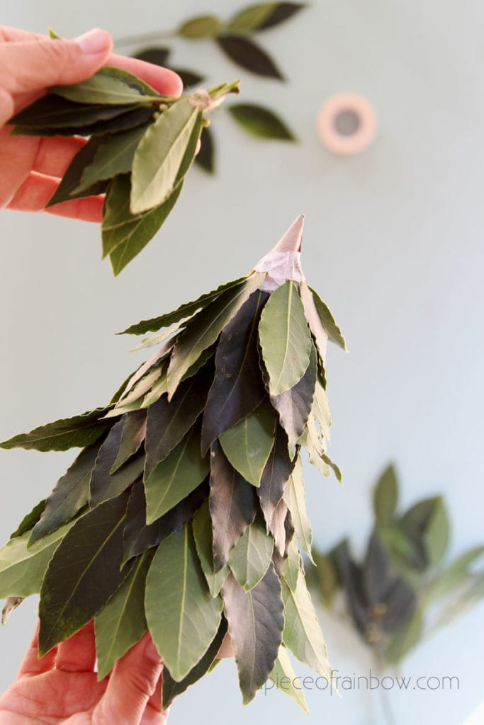 finish top of DIY Christmas tree decorations