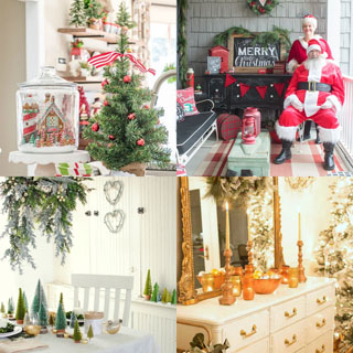 Beautiful Christmas decorating ideas for kitchen, living room and porch!
