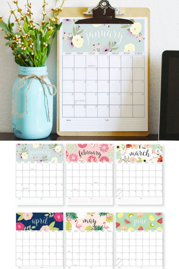 free printable 2020 calendars art print rifle paper inspired flowers  Anthropologie  style