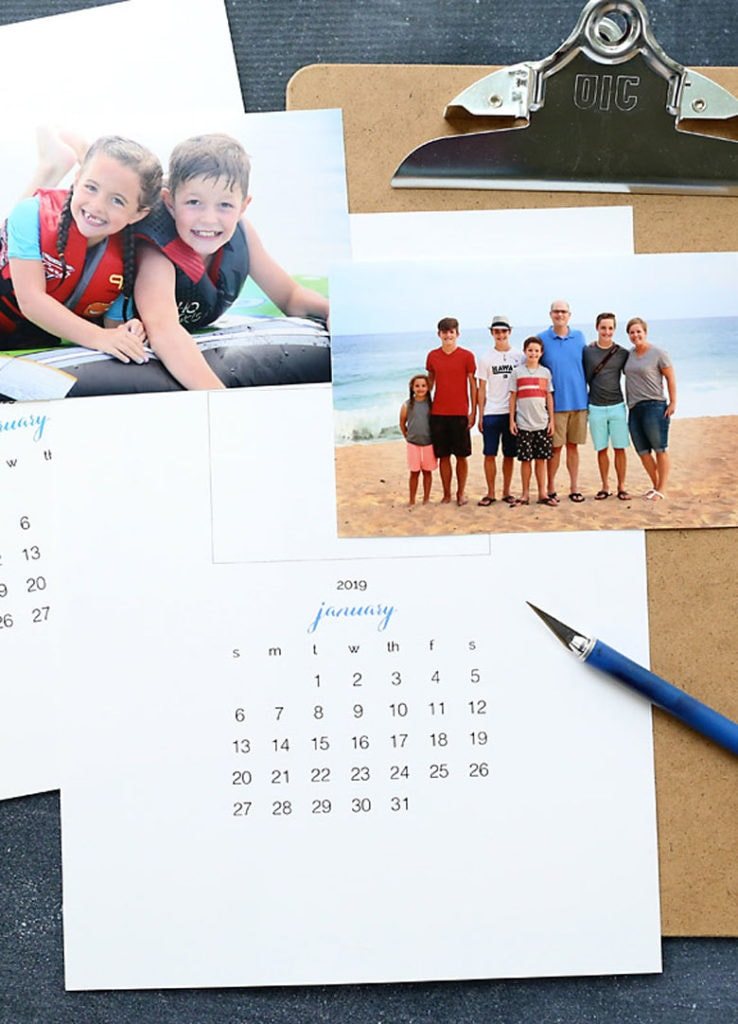 Personalized DIY 2020 photo calendars gift idea