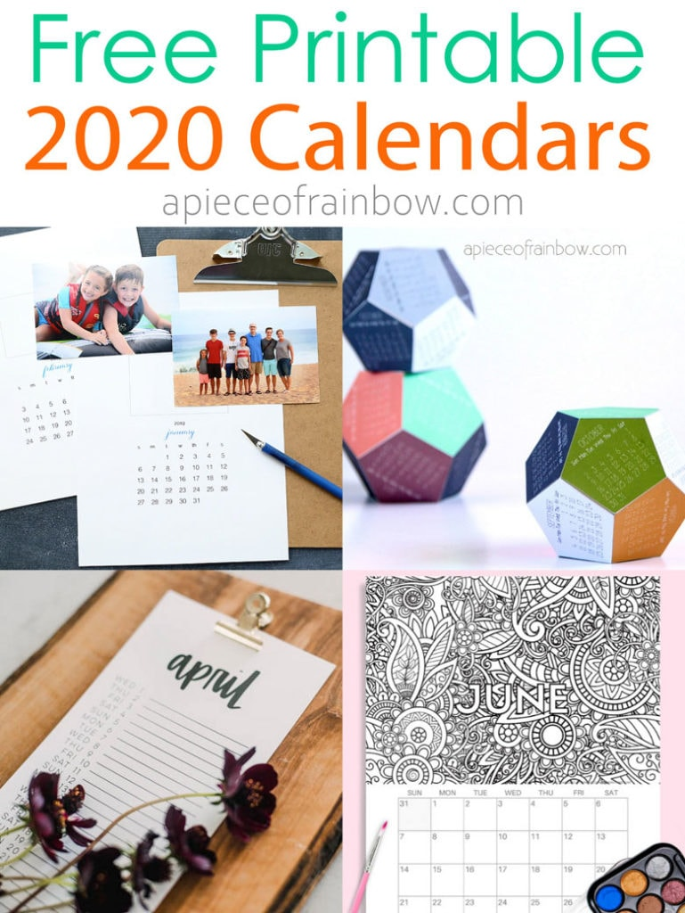 18 Stylish Free Printable 2020 Calendars Amp Planners A