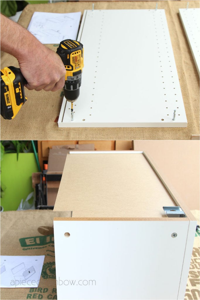 How to assemble IKEA Sektion kitchen cabinets