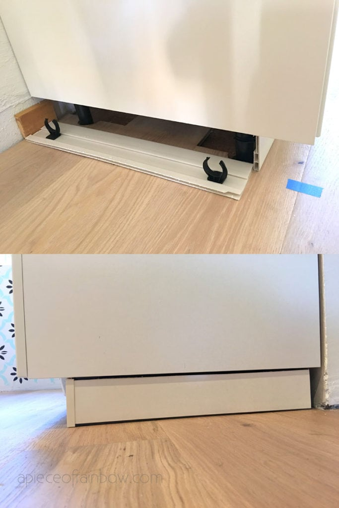 install ikea kitchen toe kick, forbattra cover panel