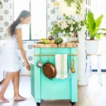 How to design & install a beautiful IKEA kitchen with Sektion cabinets, farmhouse sink, modern subway tile, butcher block countertop, & DIY kitchen island! Best tips, ideas & resources!