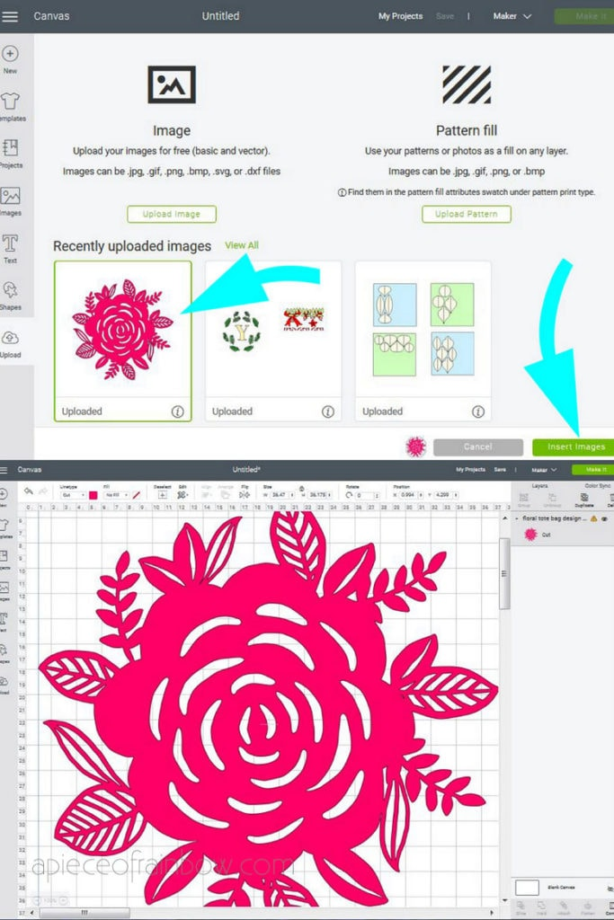 upload custom SVG files in Cricut Design Space