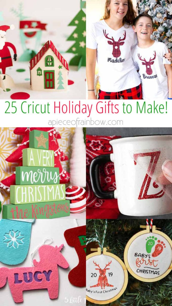25 Diy Personalized Christmas Gifts With Cricut A Piece Of Rainbow
