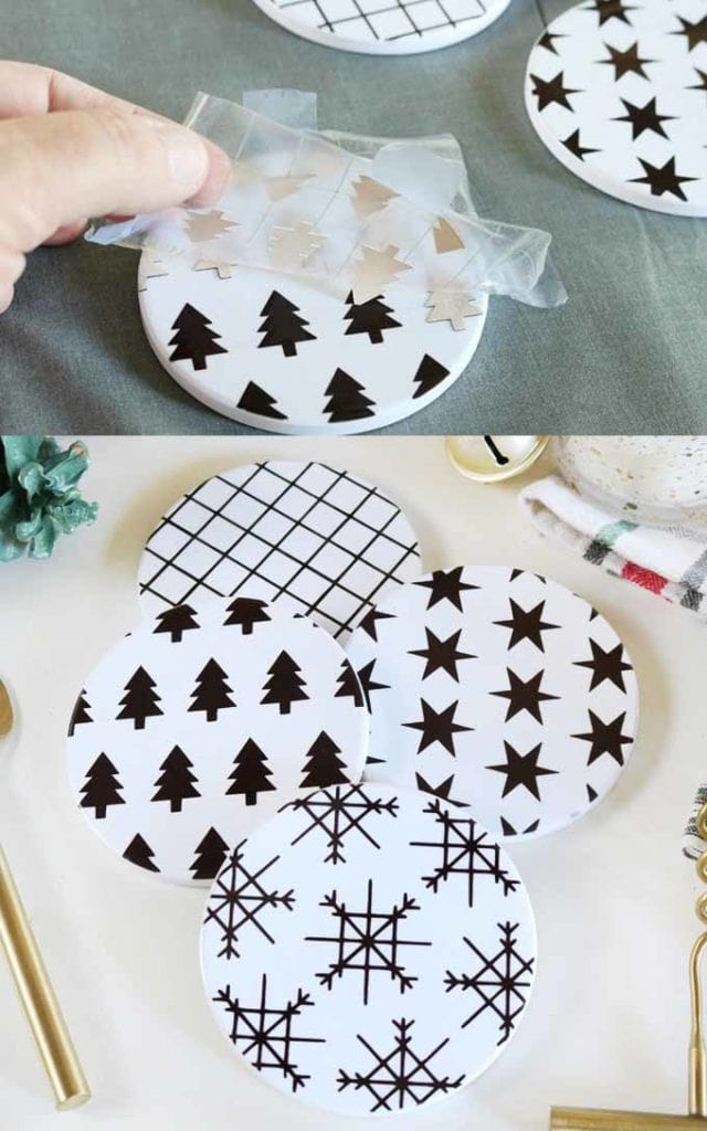 modern black and white DIY  Christmas gift ideas