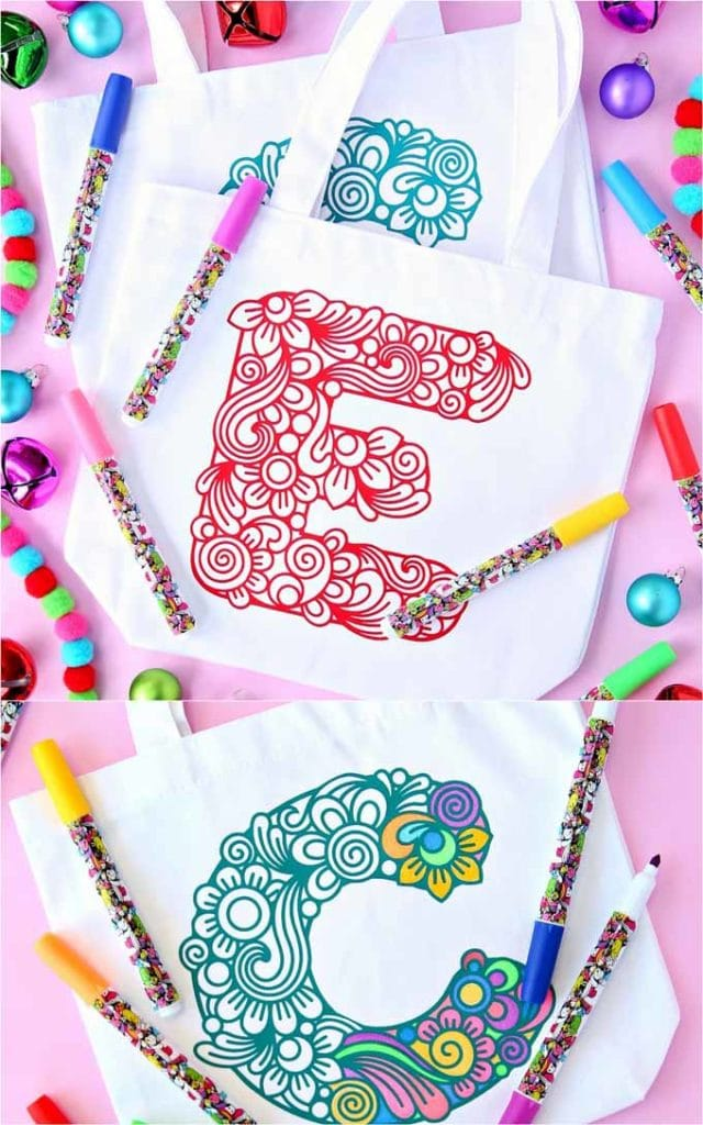 color your own canvas tote bag