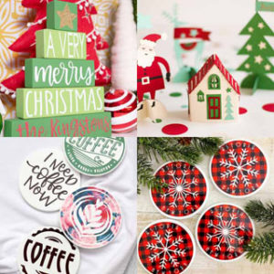 DIY personalized Christmas gifts for family, friends, coffee lovers, etc! Beautiful handmade home decor, kitchen accessories, crafts & fashion using Cricut!