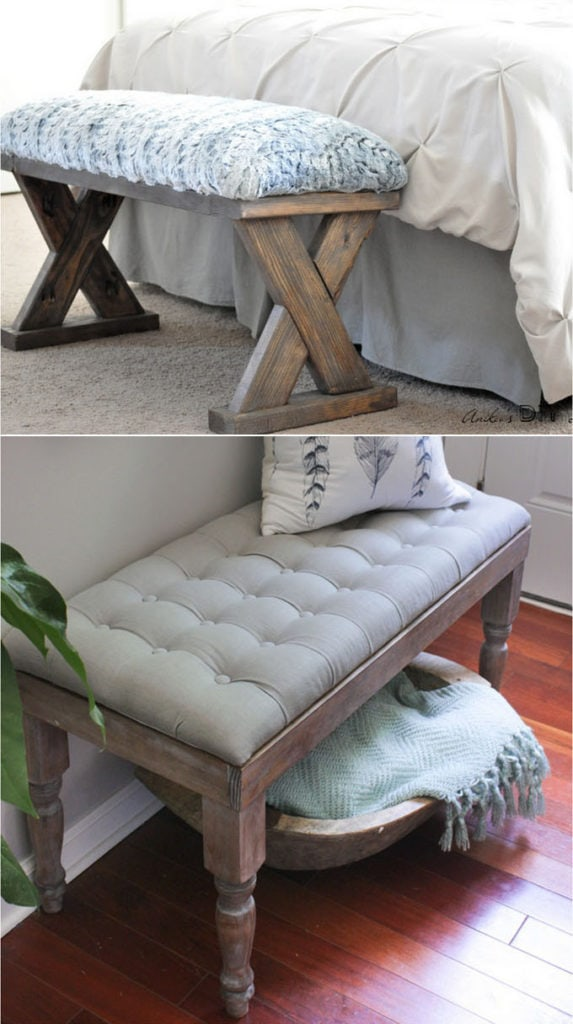 21 Gorgeous Easy DIY Benches (Indoor & Outdoor!)