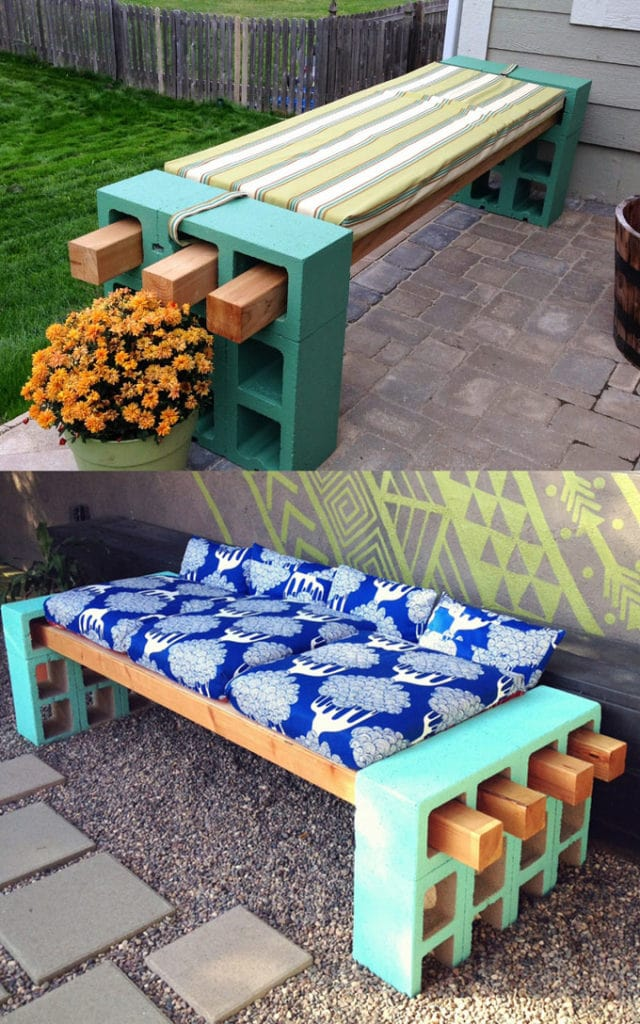 Easy DIY Outdoor Benches with CMU block