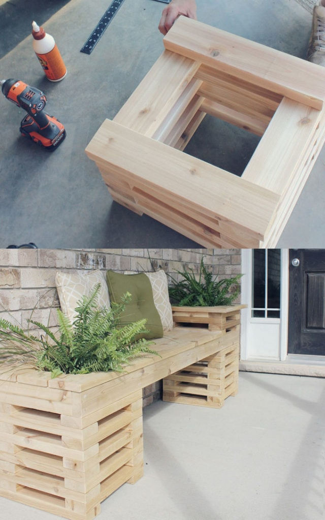 DIY Modern Outdoor Bench
