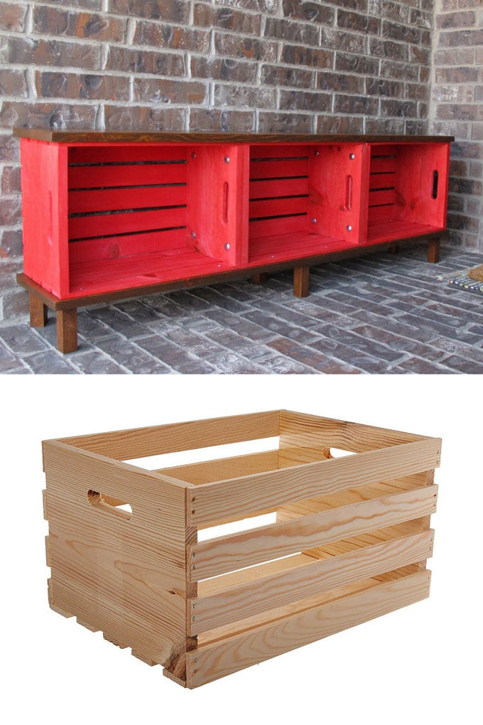 Crate Storage Bench Ideas