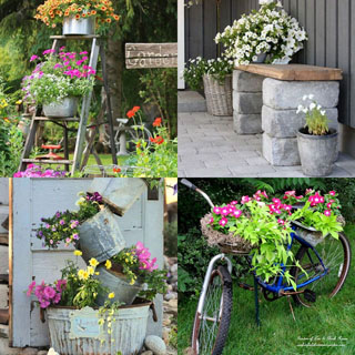Beautiful vintage garden decorations & ideas