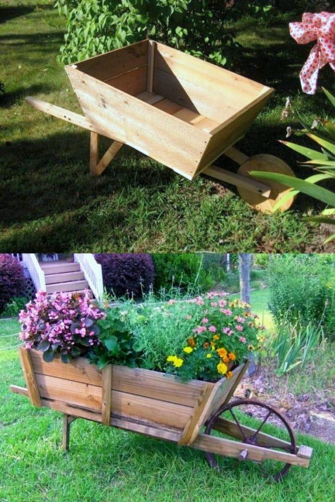 Plant a vintage garden cart
