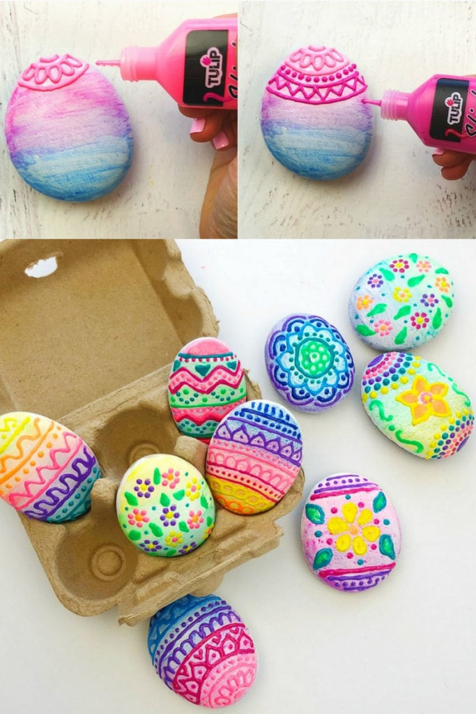 "Painted rock ""Easter eggs"""