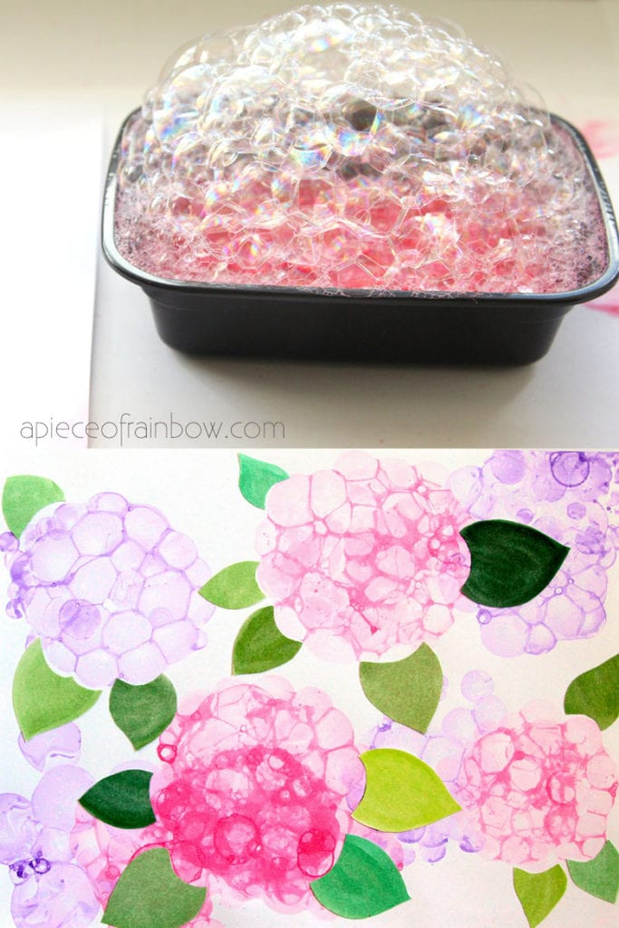 Paint bubble flowers: fun and easy art activities for kids