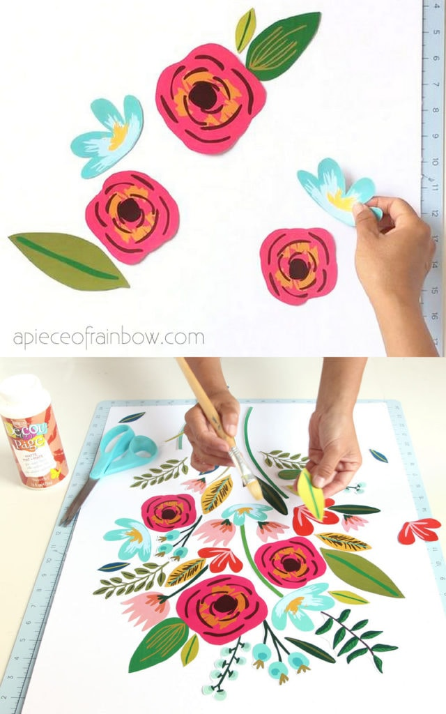 Make collage wall art: things to do on a rainy day at home