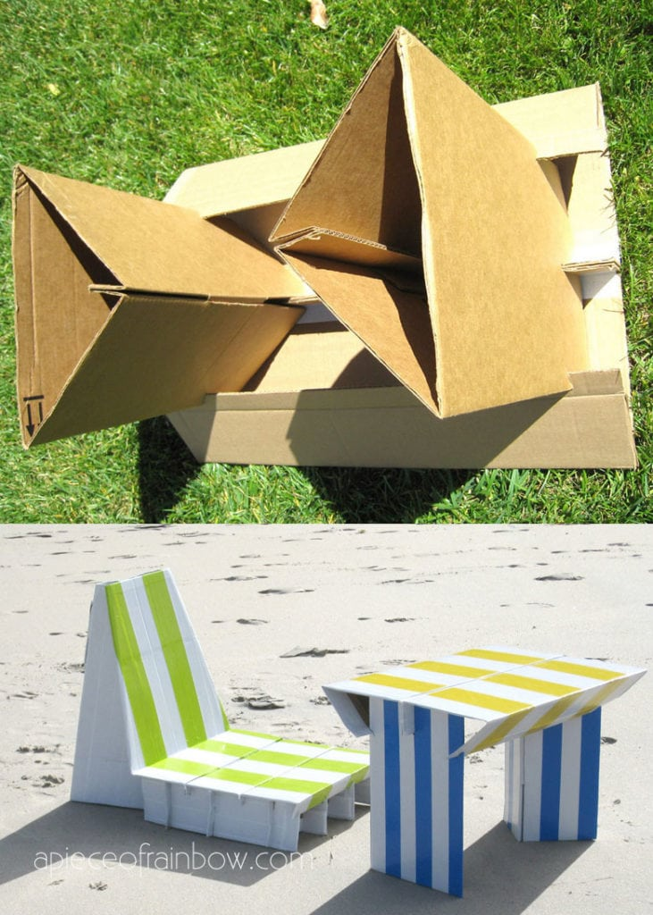 Build cardboard furniture : fun educational activities for kids and adults