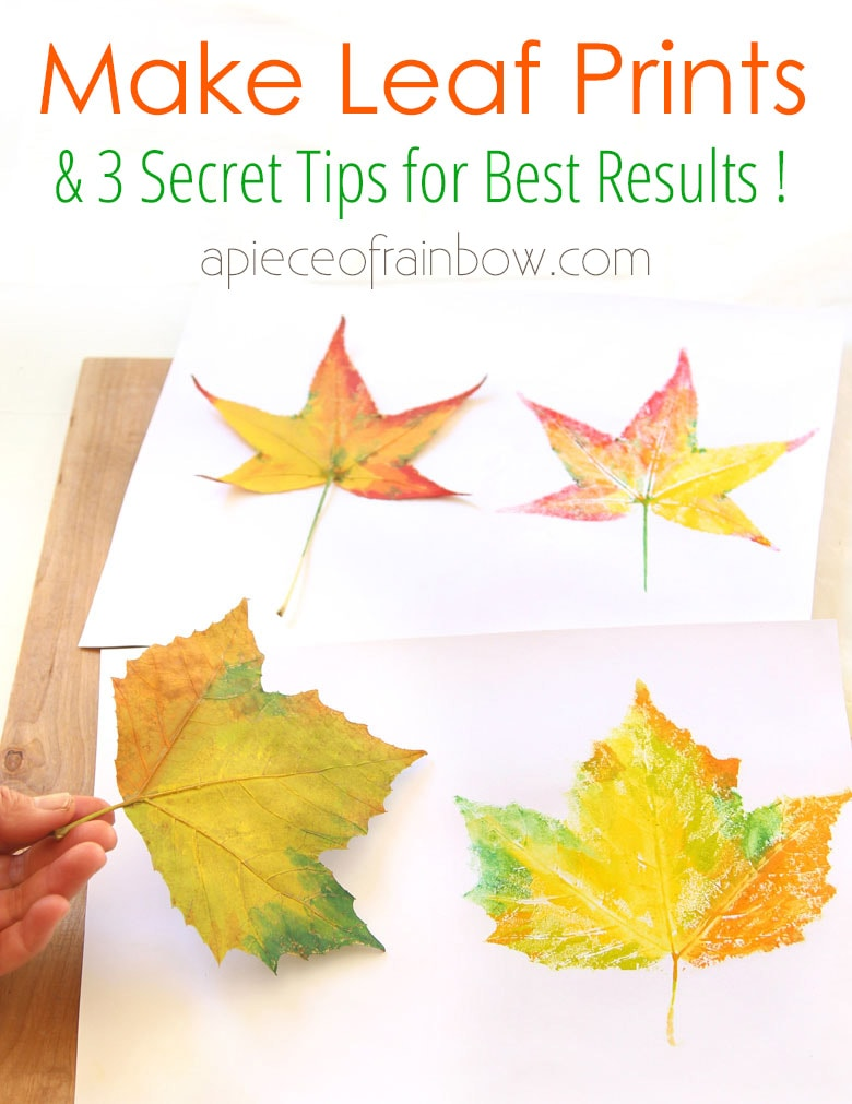 Make leaf prints: fun nature craft activities for kids and adults