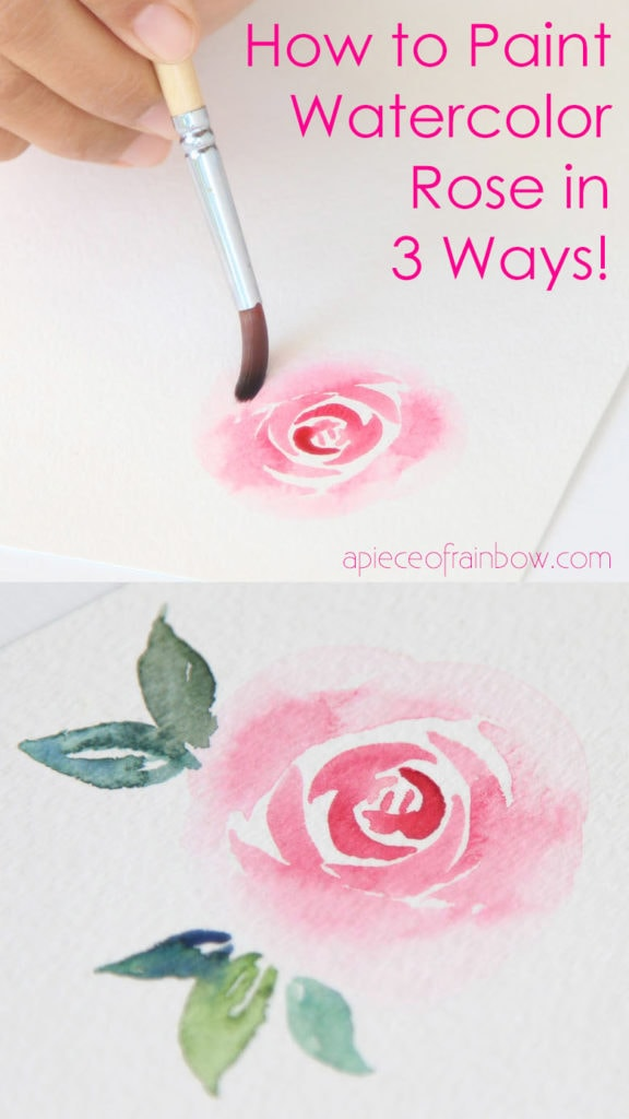 paint a watercolor rose with simple brushstrokes
