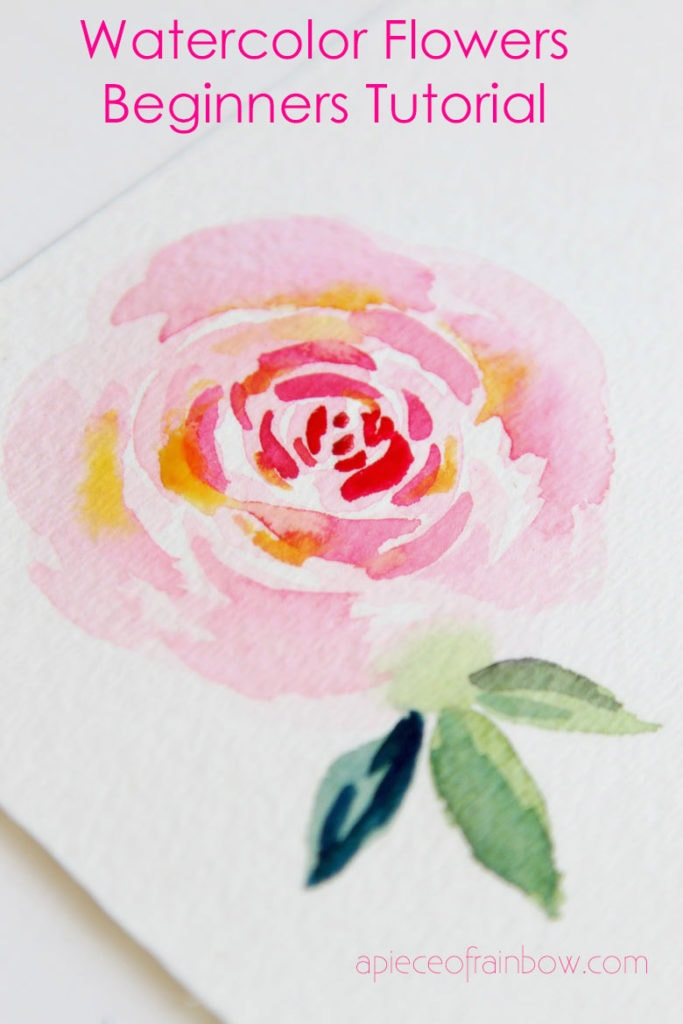 watercolor flower for beginners
