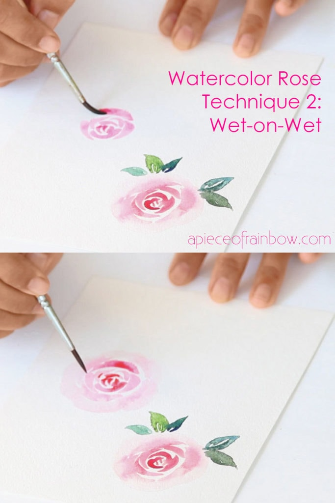 wet-on-wet loose watercolor flower painting