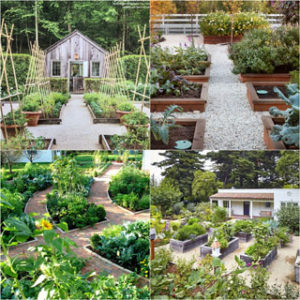 7 best vegetable garden layout ideas on soil, sun orientations, spacing, edible planting varieties, plans & design secrets to create productive & beautiful kitchen gardens. - A Piece of Rainbow