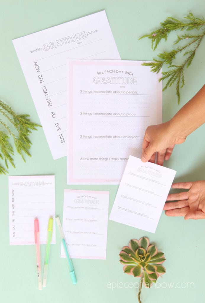 daily and weekly Free Printable Gratitude Journal Templates & Prompts