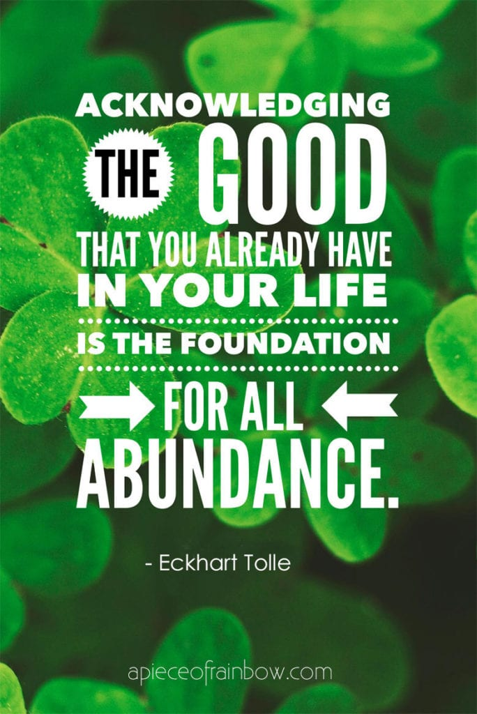 eckhart tolle quotes on Gratitude and abundance