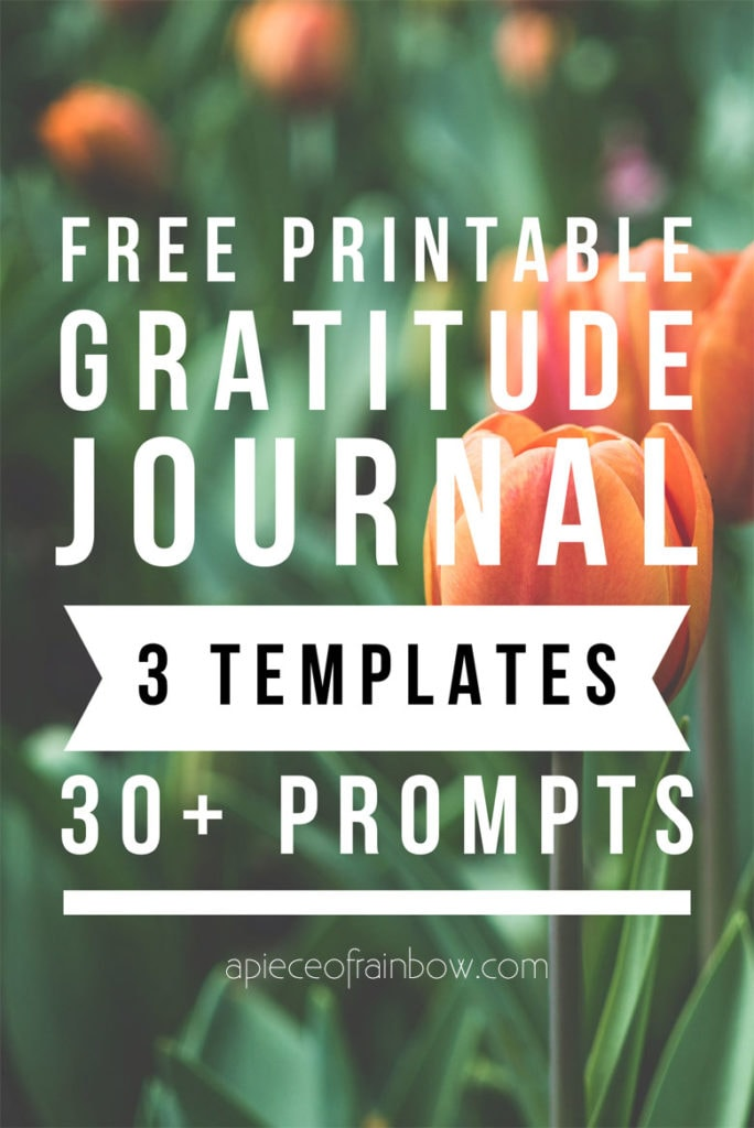 How to start a gratitude journal practice & attract more happiness, abundance, & success in your life: 3 free printable templates with 30+ ideas & prompts, some are great for kids!