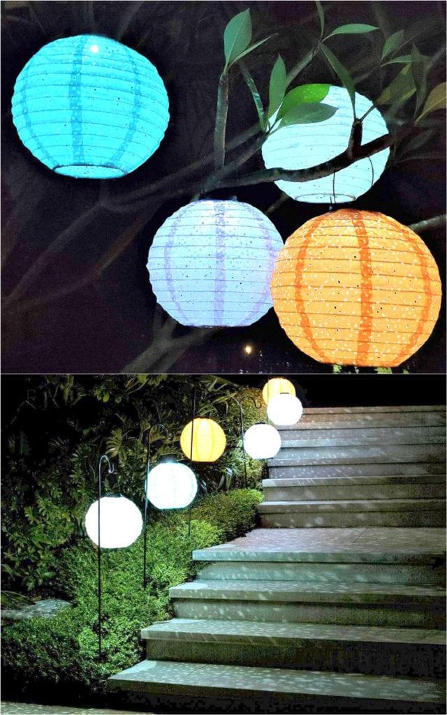 Waterproof fabric lanterns and paper lanterns