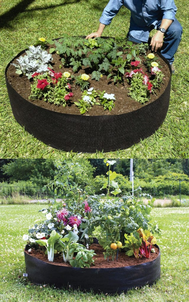 fabric planter pots