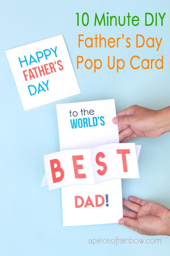 easy DIY Happy father's day card for world's best dad