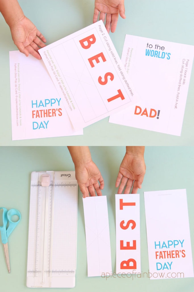 Print and cut free templates card cover and inserts