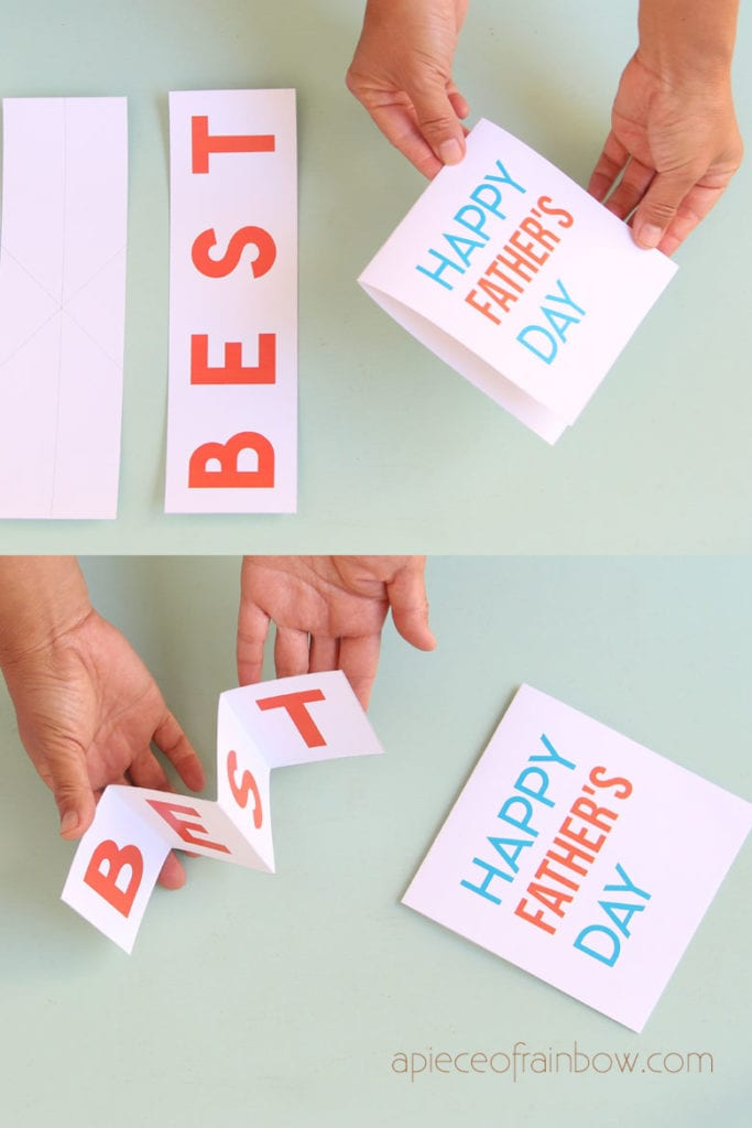DIY pop up Happy Father's Day Card cover